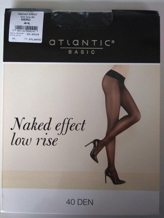 BLT-002 Rajstopy Naked Effect Low Rise  (40 DEN) Nero