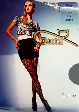 Rajstopy Gatta Rete Fantasia 1-2 Grigio Yasmine 01